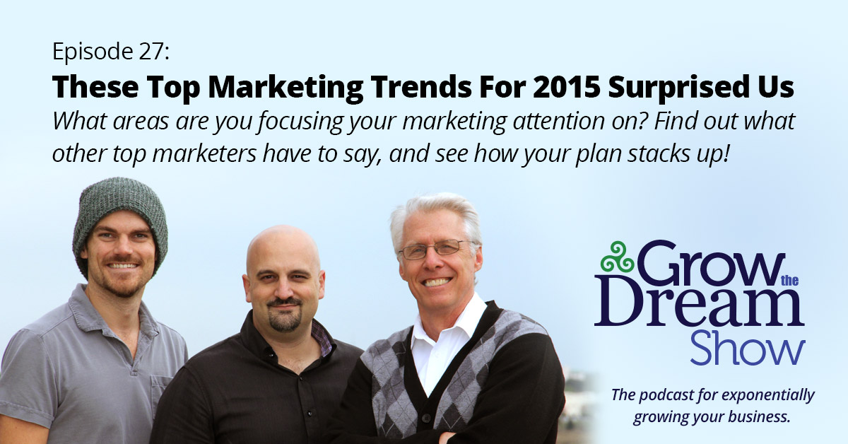 Episode 27: These Top Marketing Trends For 2015 Surprised Us
