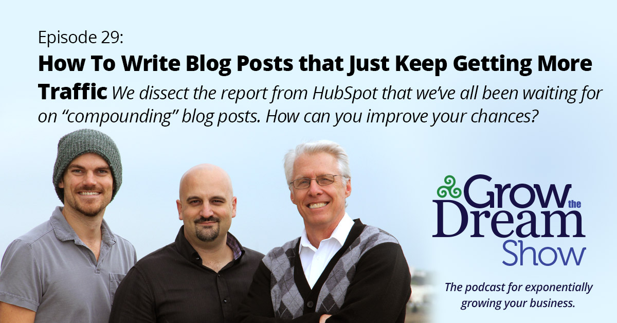 #29 How to Write Blog Posts that Just Keep Getting More Traffic