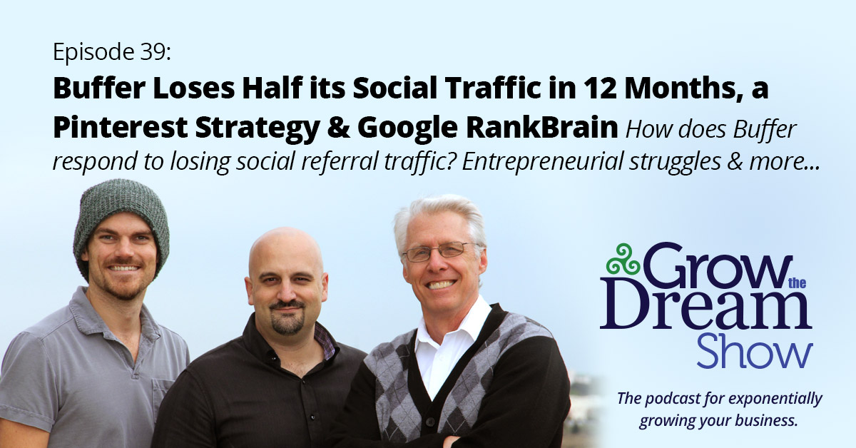 #39 Buffer Loses Half of Social Traffic in 12 Months, a Pinterest Strategy & Google RankBrain