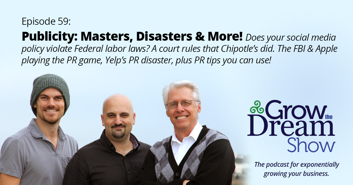 #59 Publicity: Masters, Disasters & More!