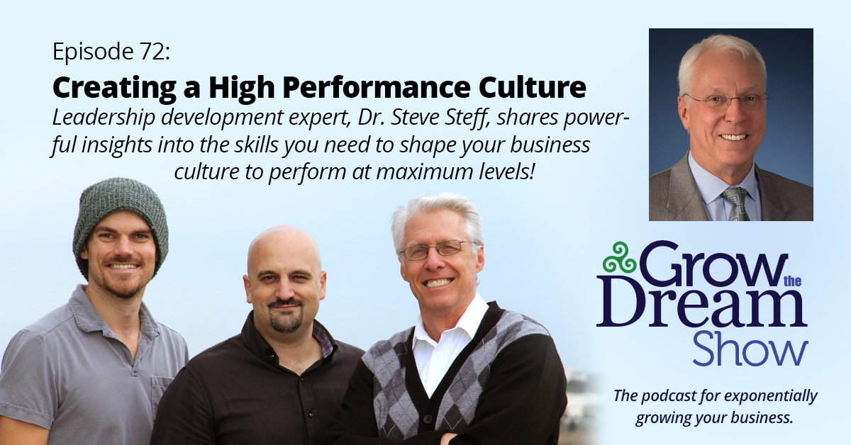 #72 Steve Steff on Creating a High Performance Culture