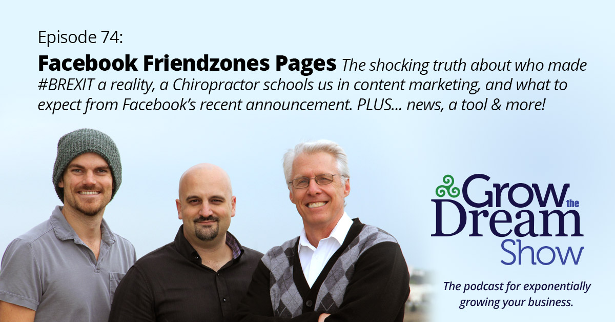 Episode 74: Facebook Friendzones Pages